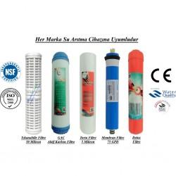 Yıkanabilir+GAC Karbon+5 Mikron Sediment+Membran+Detox Filtre
