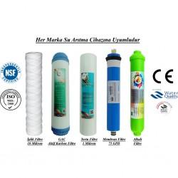 İplik+GAC Karbon+1 Mik. Sediment+Membran+Alkalin Filtre