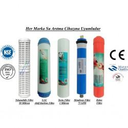 Yıkanabilir+GAC Karbon+1 Mikron Sedimnt+Membran+Detox Filtre