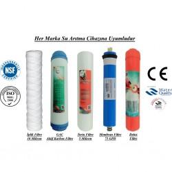 İplik+GAC Aktif Karbon+5 Mikron Sediment+Membran+Detox Filtre