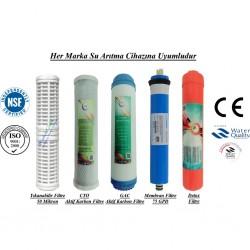 Yıkanabilir+GAC Aktif Karbon+CTO Karbon+Membran+Detox Filtre