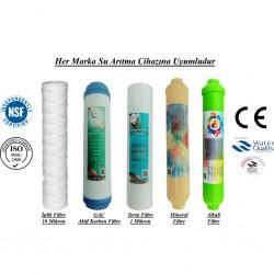 İplik+GAC Aktif Karbon+1 Mikron Sediment+Mineral+Alkali Filtre