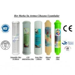 Yıkanabilir+CTO Karbon+1 Mik. Sediment+Mineral+Alkali Filtre