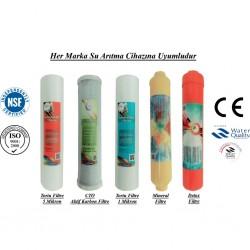 5 Mikron Sediment+CTO Karbon+1 Mikron Sediment+Mineral+Detox Filtre