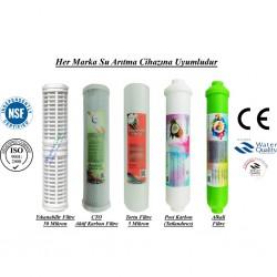 Yıkanabilir+CTO Aktif Karbon+5 Mikron Sediment+Post Karbon+Alkali