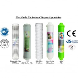 Yıkanabilir+CTO Aktif Karbon+İplik+Post Karbon+Alkali