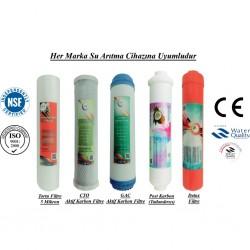 5 Mikron Sediment+GAC Karbon+CTO Karbon+Post Karbon+Detox Filtre