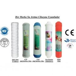 İplik+GAC Aktif Karbon+CTO Aktif Karbon+Post Karbon+Detox Filtre