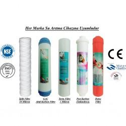 İplik+GAC Aktif Karbon+1 Mikron Sediment+Post Karbon+Detox Filtre
