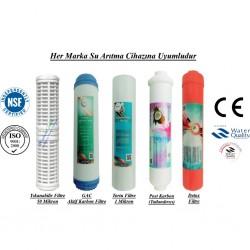 Yıkanabilir+GAC Aktif Karbon+1 Mikron Sediment+Post Karbon+Detox