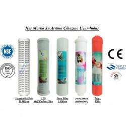 Yıkanabilir+CTO Aktif Karbon+1 Mikron Sediment+Post Karbon+Detox