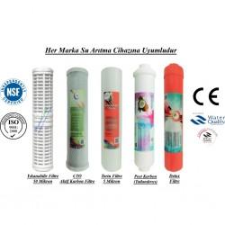 Yıkanabilir+CTO Aktif Karbon+5 Mikron Sediment+Post Karbon+Detox