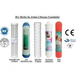 Yıkanabilir+GAC Aktif Karbon+İplik+Post Karbon+Detox Filtre