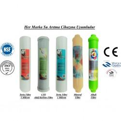 5 Mikron Sediment+CTO Karbon+1 Mikron Sediment+Mineral+Alkali Filtre
