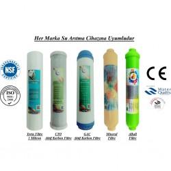 1 Mikron Sediment+GAC Karbon+CTO Karbon+Mineral+Alkali Filtre