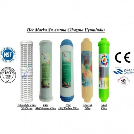Yıkanabilir+GAC Aktif Karbon+CTO Karbon+Mineral+Alkali Filtre