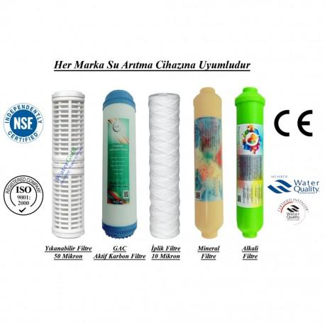 Yıkanabilir+GAC Aktif Karbon+İplik+Mineral+Alkali Filtre