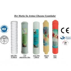 İplik+CTO Aktif Karbon+1 Mikron Sediment+Mineral+Alkali Filtre