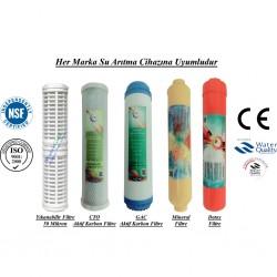 Yıkanabilir+GAC Karbon+CTO Aktif Karbon+Mineral+Alkali Filtre