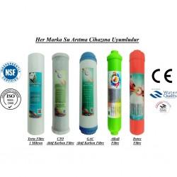 1 Mikron Sediment+GAC Karbon+CTO Karbon+Alkali+Detox Filtre