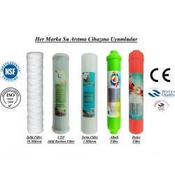 İplik+CTO Aktif Karbon+1 Mikron Sediment+Alkali+Detox Filtre