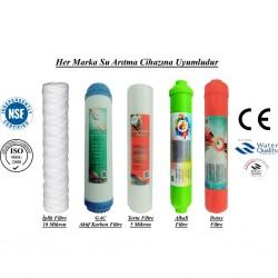 İplik+GAC Aktif Karbon+5 Mikron Sediment+Alkali+Detox Filtre