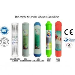 Yıkanabilir+GAC Aktif Karbon+CTO Aktif Karbon+Alkali+Detox Filtre