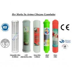 Yıkanabilir+CTO Aktif Karbon+5 Mikron Sedimen+Alkali+Detox Filtre