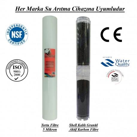 5 Mikron Pislik Süzücü+Koku ve Tat İyileştirici Granül Karbon