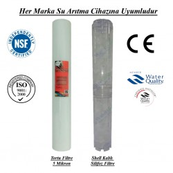 5 Mikron Pislik Süzücü+Kireç ve Korozyon Önleyici Silifoz Filtre