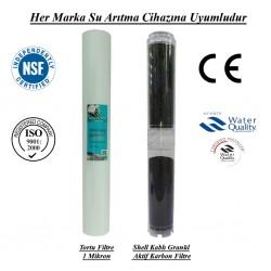 1 Mikron Pislik Süzücü+Koku ve Tat İyileştirici GAC Granül Karbon
