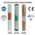 20 inç 5 Mikron Spun GAC Karbon Kireç Önleyici Reçine Filtre