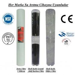 20 inç 5 Mikron Spun Shel GAC Karbon Kireç Önleyici Filtre