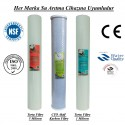 20 inç 5 Mikron Spun CTO Karbon 1 Mikron Spun Filtre