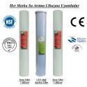 20 inç 5 Mikron Spun CTO Karbon 5 Mikron Spun Filtre