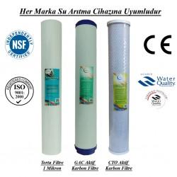 20 inç 1 Mikron Spun GAC Karbon CTO Karbon Filtre