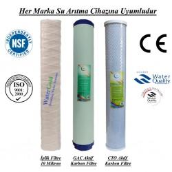 20 inç İplik GAC Aktif Karbon CTO Aktif Karbon Filtre