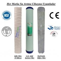 20 inç İplik GAC Aktif Karbon Kireç Önleyici Silifoz Filtre