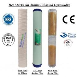 20 inç İplik GAC Aktif Karbon Kireç Önleyici Reçine Filtre