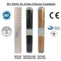 20 inç İplik Koku Giderici Karbon Kireç Önleyici Reçine Filtre