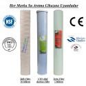 20 inç İplik Koku Giderici Karbon 5 Mikron Spun Filtre