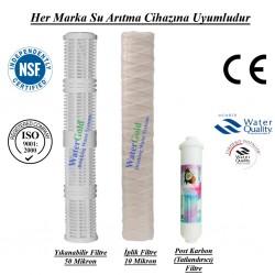 20 inç Yıkanabilir İplik Tatlandırıcı Post Karbon Filtre