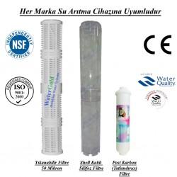 20 inç Yıkanabilir Kireç Önleyici Tatlandırıcı Post Karbon Filtre