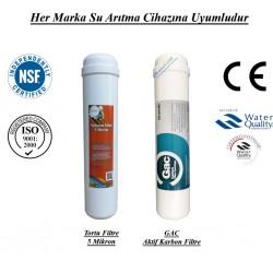 Su Arıtma 5 Mikron, GAC Aktif Karbon Filtre Seti