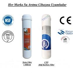 Su Arıtma 5Mikron, CTO Aktif Karbon Filtre Seti