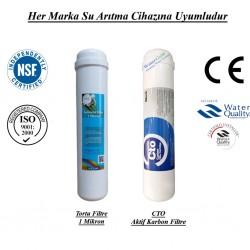Su Arıtma 1 Mikron, CTO Aktif Karbon Filtre Seti