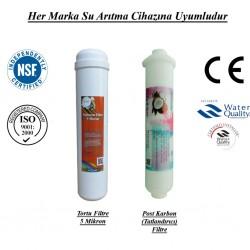 Su Arıtma 5 Mikron, Post Karbon Tatlandırıcı Filtre Seti