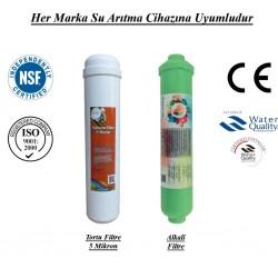 Su Arıtma 5 Mikron, Alkali Filtre Seti