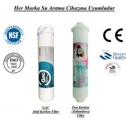 Su Arıtma GAC Aktif Karbon Filtre, Post Karbon Tatlandırıcı Filtre Seti