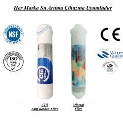 Su Arıtma CTO Aktif Karbon, Mineral Filtre Seti